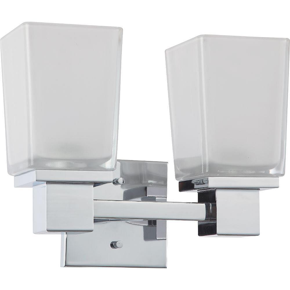 Filament Design Applique de salle de bain à 2 ampoules au fini chrome poli - 11,25 pouces