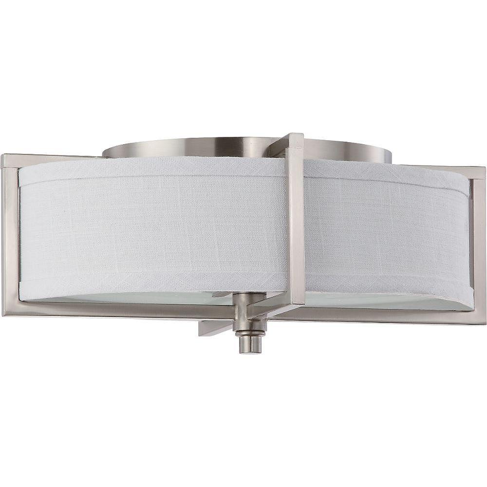 Filament Design 2-Light Brushed Nickel Flush Mount - 16 inch