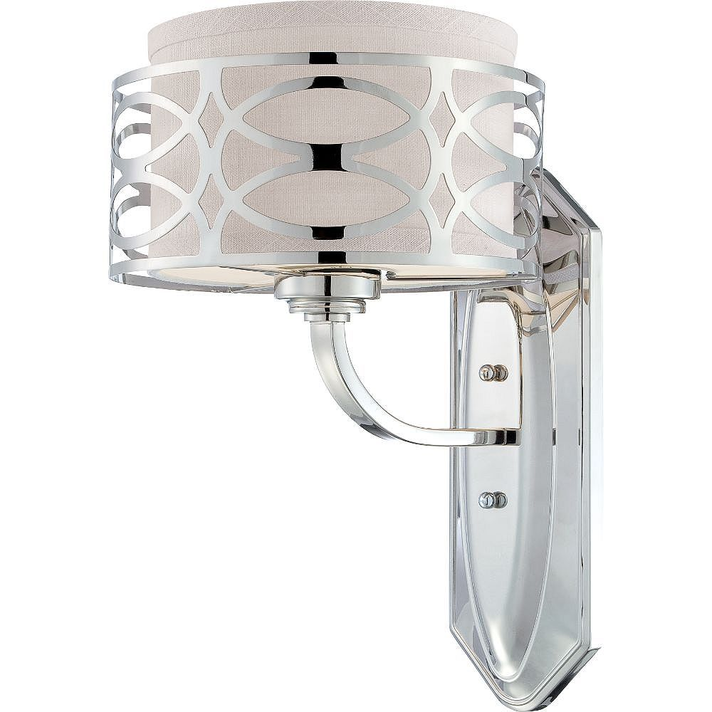 Filament Design 1-Light Polished Nickel Bath Vanity Light - 14.13 inch