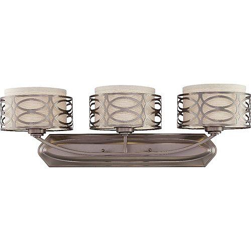 Filament Design Applique de salle de bain à 3 ampoules au fini bronze noisette - 31 pouces