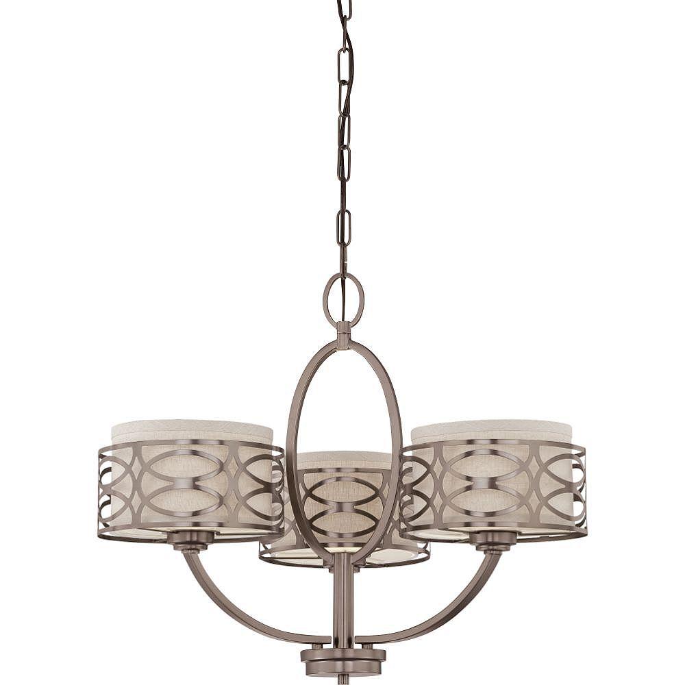 Filament Design Lustre à 3 ampoules en bronze noisette - 20,38 pouces