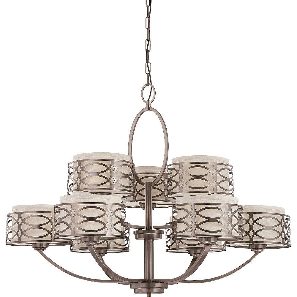 Filament Design Lustre bronze à 9 ampoules - 29,25 pouces