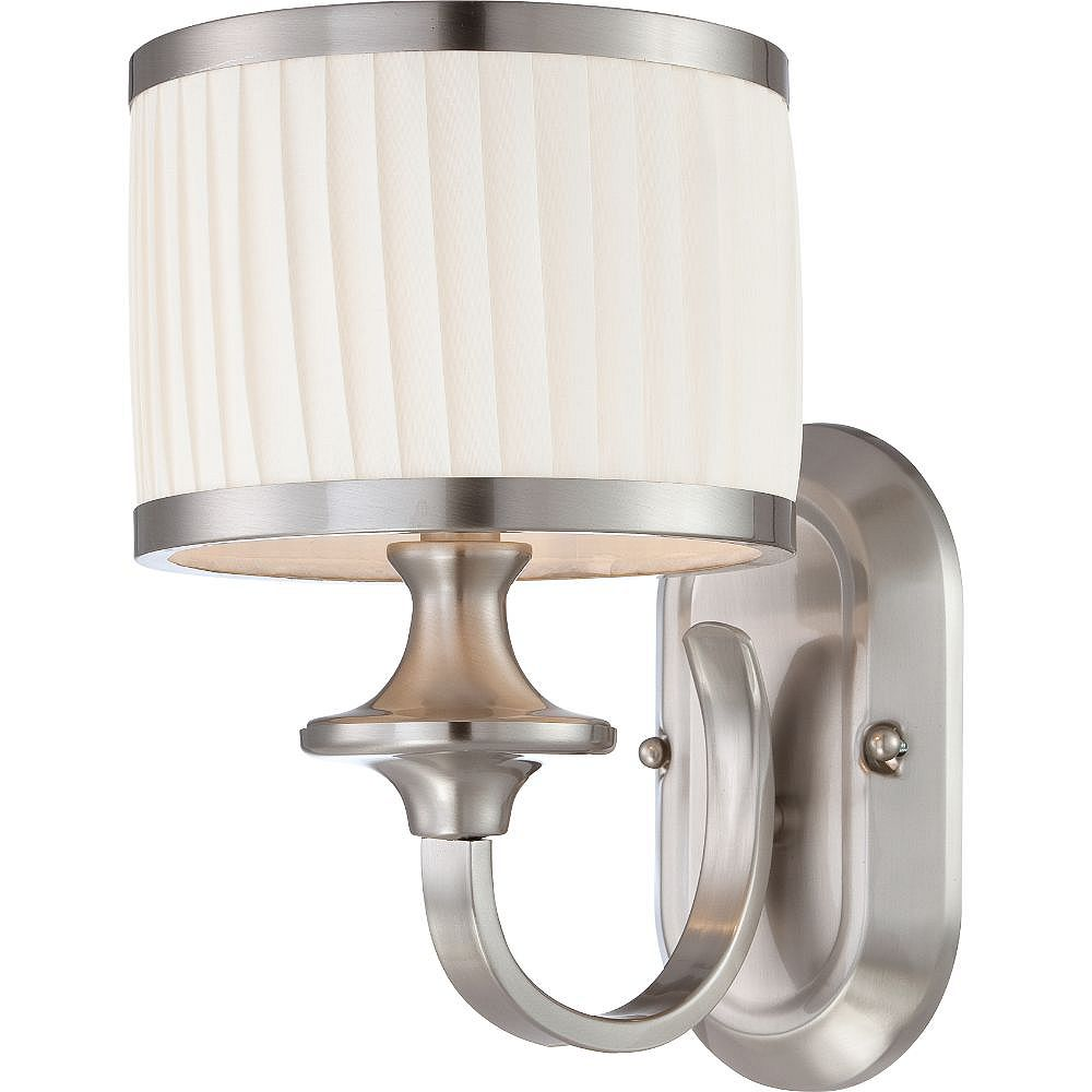 Filament Design 1-Light Brushed Nickel Bath Vanity Light - 11 inch