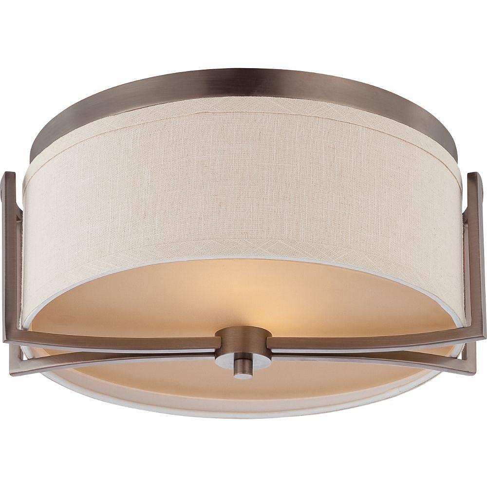 Filament Design Plafonnier à 2 ampoules au fini bronze noisette - 7,13 pouces