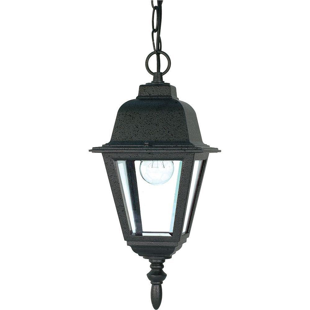 Filament Design 1-Light Textured Black Outdoor Hanging Lantern - 6 inch