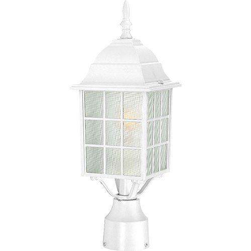 Lanterne d'extérieur blanche à 1 ampoule - 18,25 pouces