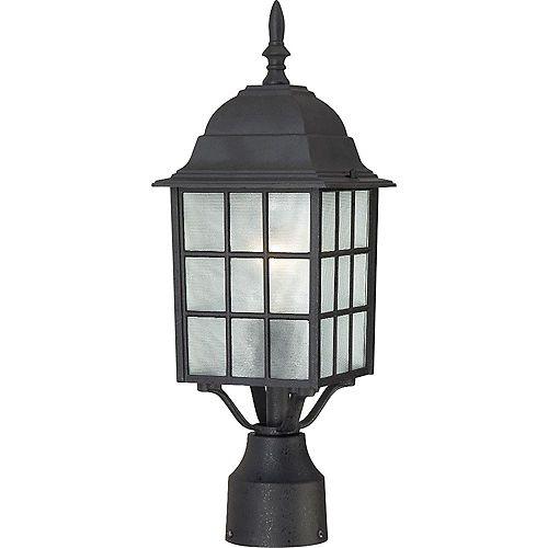 Lanterne d'extérieur noire à 1 ampoule texturée - 18,25 pouces