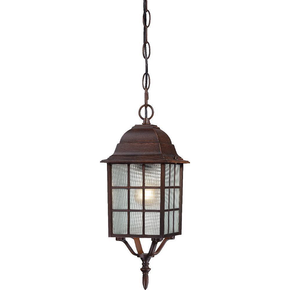 Filament Design Lanterne suspendue d'extérieur à 1 lumière, bronze rustique - 15,75 pouces