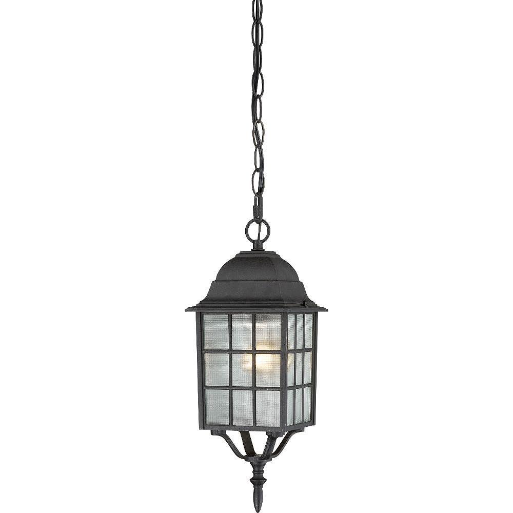 Filament Design Lanterne suspendue d'extérieur à 1 lumière, noir texturé - 15,75 pouces