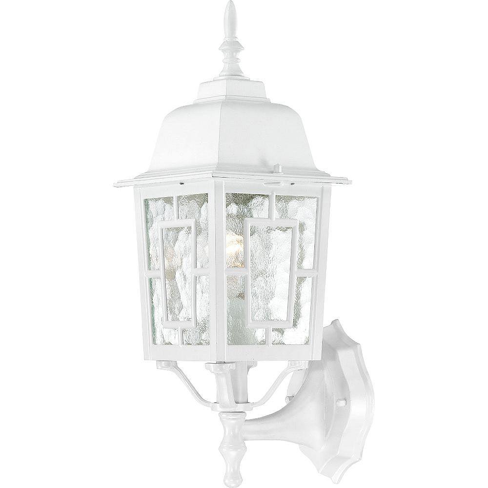 Filament Design 1-Light White Outdoor Wall Light - 17 inch