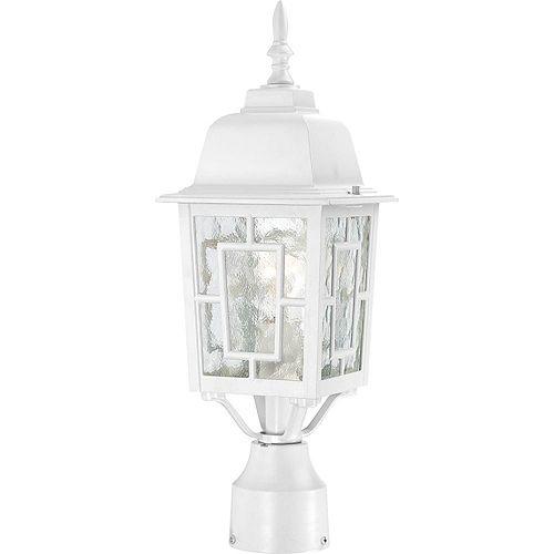 Lanterne d'extérieur blanche à 1 ampoule - 17,25 pouces