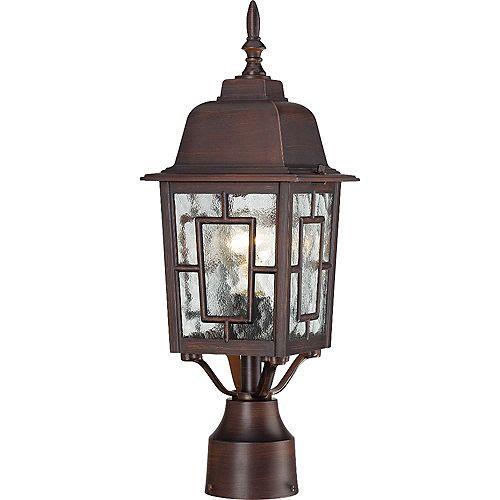 Lanterne d'extérieur à 1 ampoule bronze rustique - 17,25 pouces