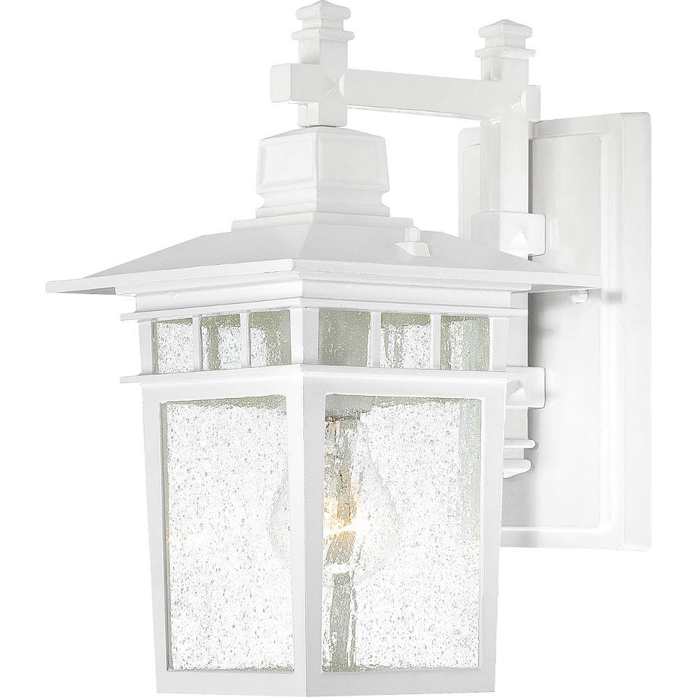Filament Design 1-Light White Outdoor Wall Lantern - 7 inch