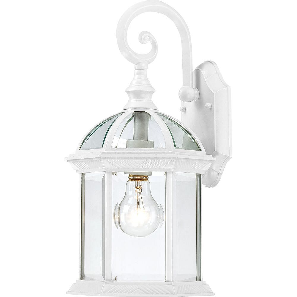 Filament Design 1-Light White Outdoor Wall Light - 15.75 inch