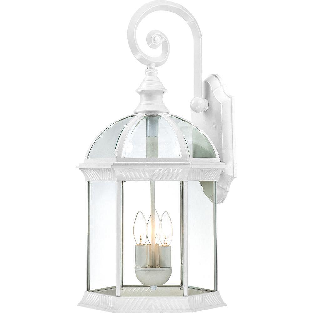 Filament Design Applique murale d'extérieur blanche à 3 ampoules - 13 pouces