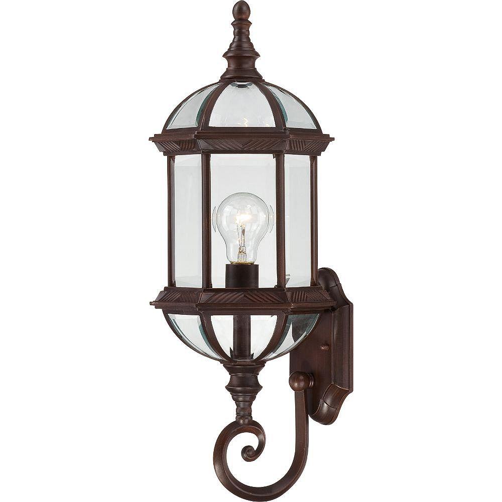 Filament Design Applique murale d'extérieur à 1 ampoule bronze rustique - 22 pouces