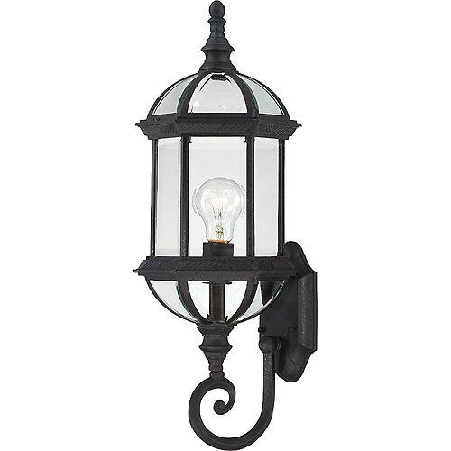 Filament Design 1-Light Textured Black Outdoor Wall Light - 22 inch