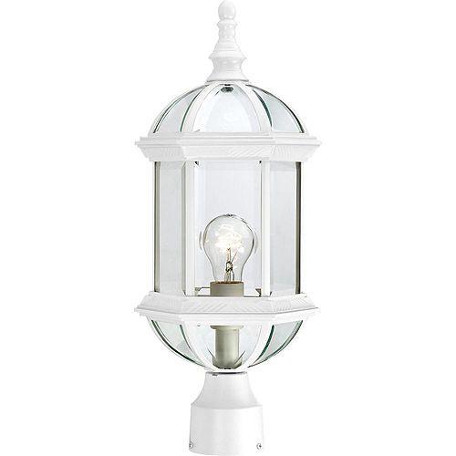 Lanterne d'extérieur blanche à 1 ampoule - 8 pouces