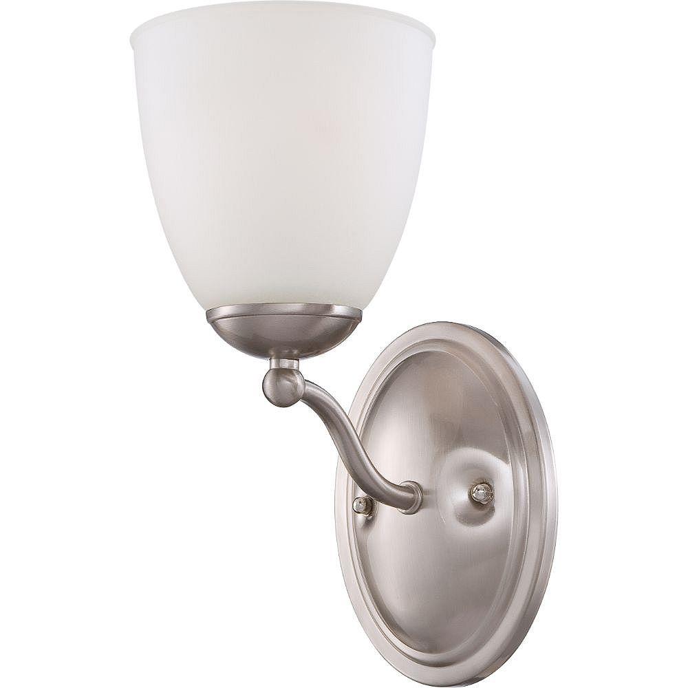 Filament Design Applique de salle de bain à 1 ampoule en nickel brossé - 6,75 pouces