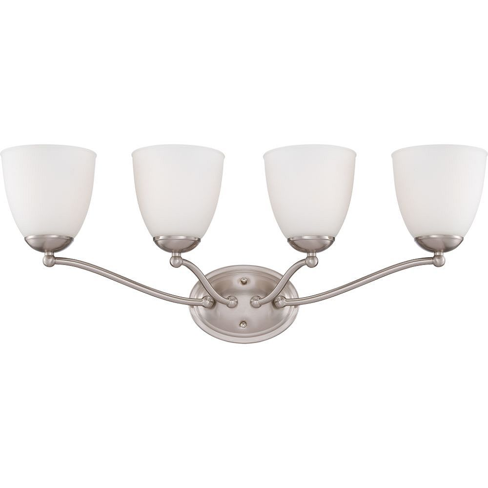 Filament Design 4-Light Brushed Nickel Bath Vanity Light - 28 inch