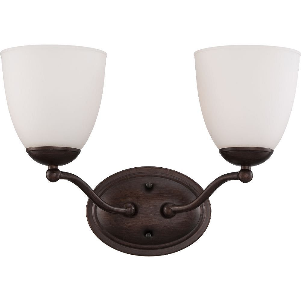 Filament Design Applique de salle de bain à 2 ampoules en bronze des prairies
