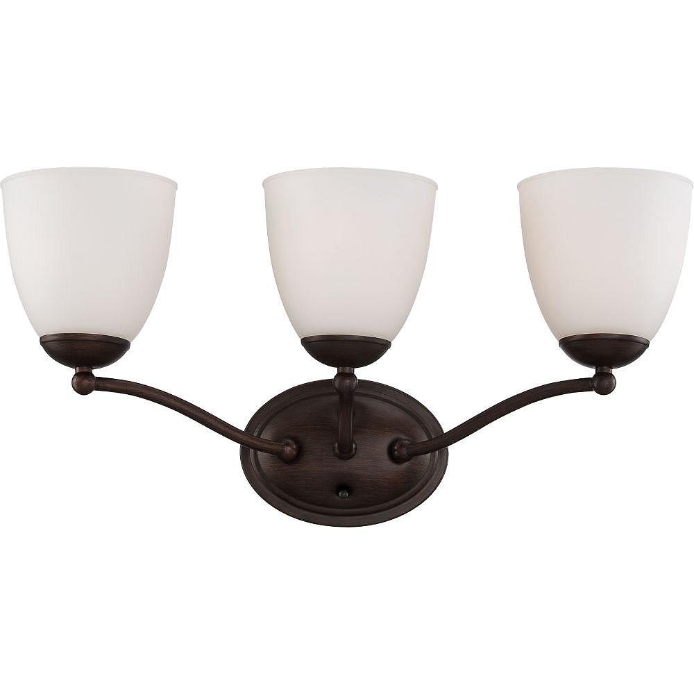 Filament Design Luminaire de vanité de salle de bain à 3 ampoules en bronze des prairies