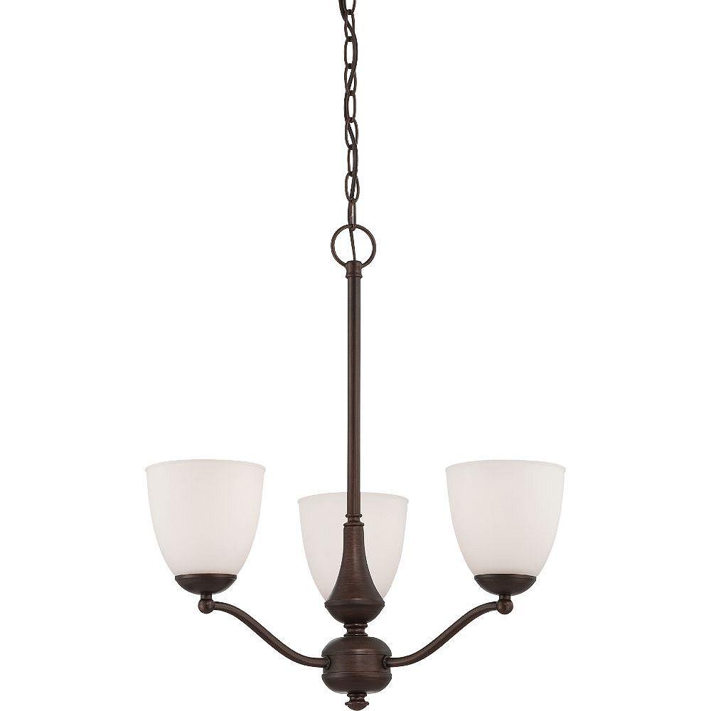 Filament Design 3-Light Prairie Bronze Chandelier - 23 inch