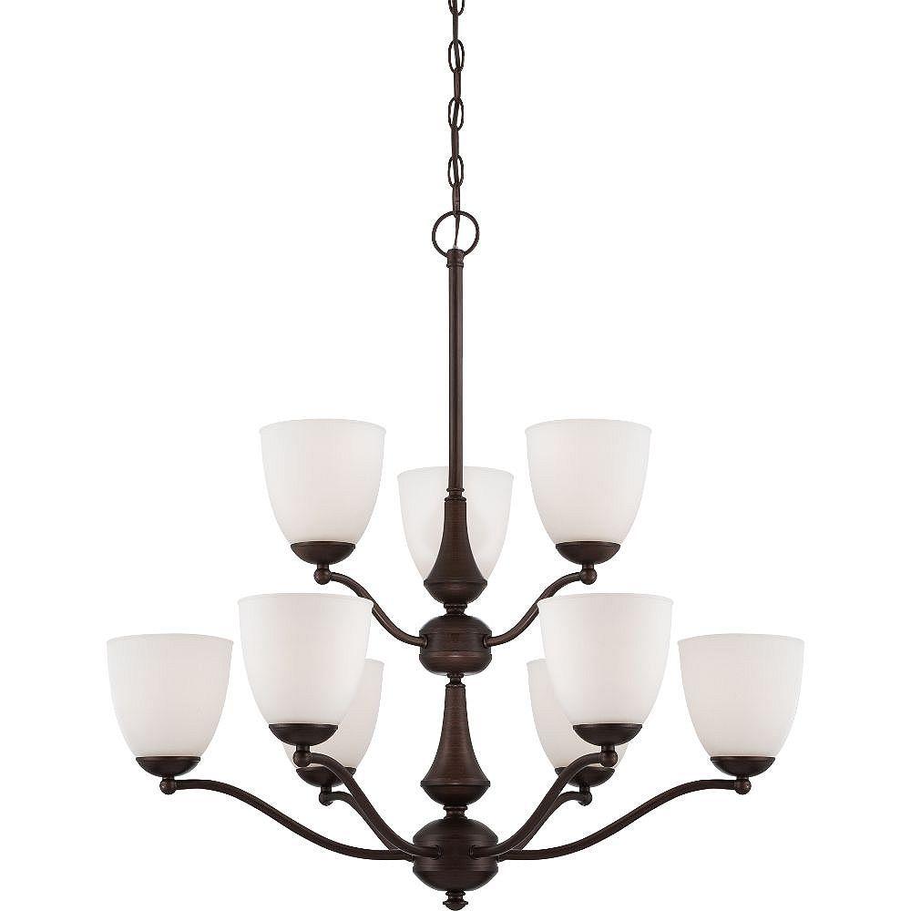 Filament Design Lustre à 9 ampoules en bronze des prairies