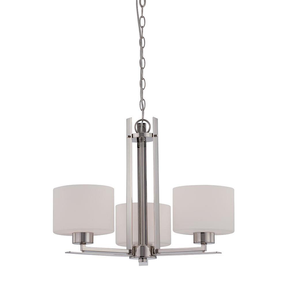 Filament Design 3-Light Polished Nickel Chandelier - 17.25 inch