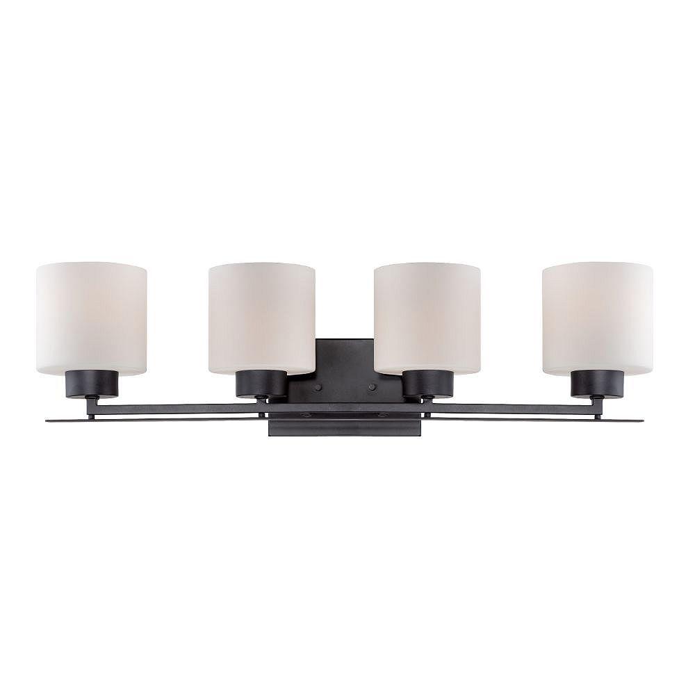 Filament Design Luminaire de meuble-lavabo à 4 ampoules en bronze vieilli - 29 pouces