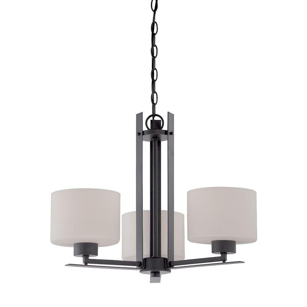 Filament Design Lustre en bronze vieilli à 3 ampoules - 17,25 pouces