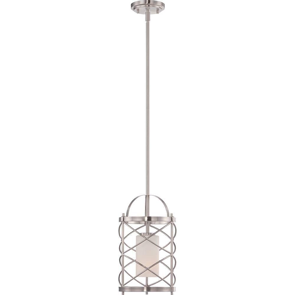 Filament Design 1-Light Brushed Nickel Pendant - 51.75 inch