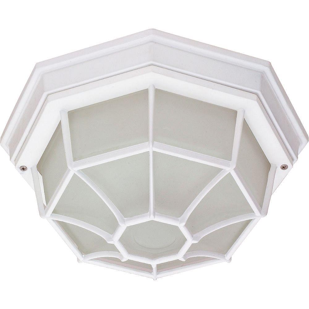 Filament Design 1-Light White Outdoor Wall Lantern - 11.38 inch