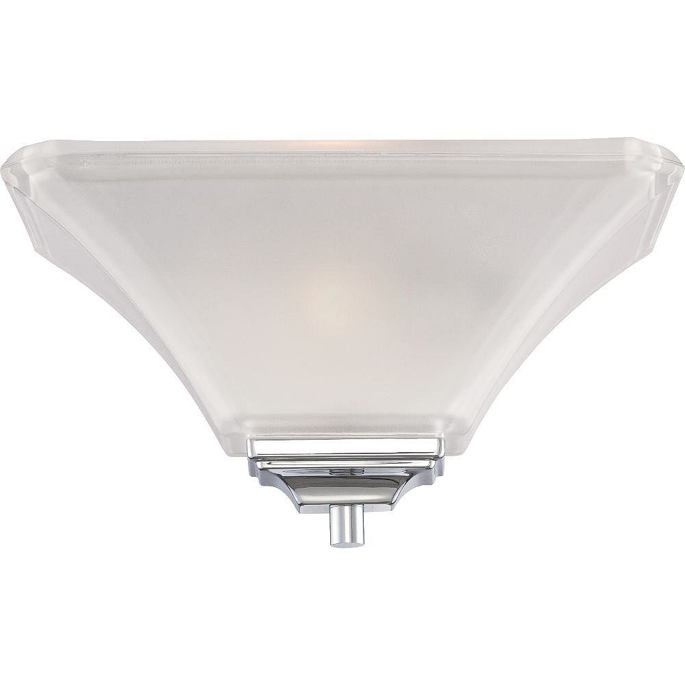 Filament Design 1-Light Polished Chrome Wall Sconce - 13 inch