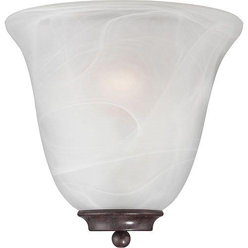 Applique murale à 1 ampoule bronze antique - 10 pouces