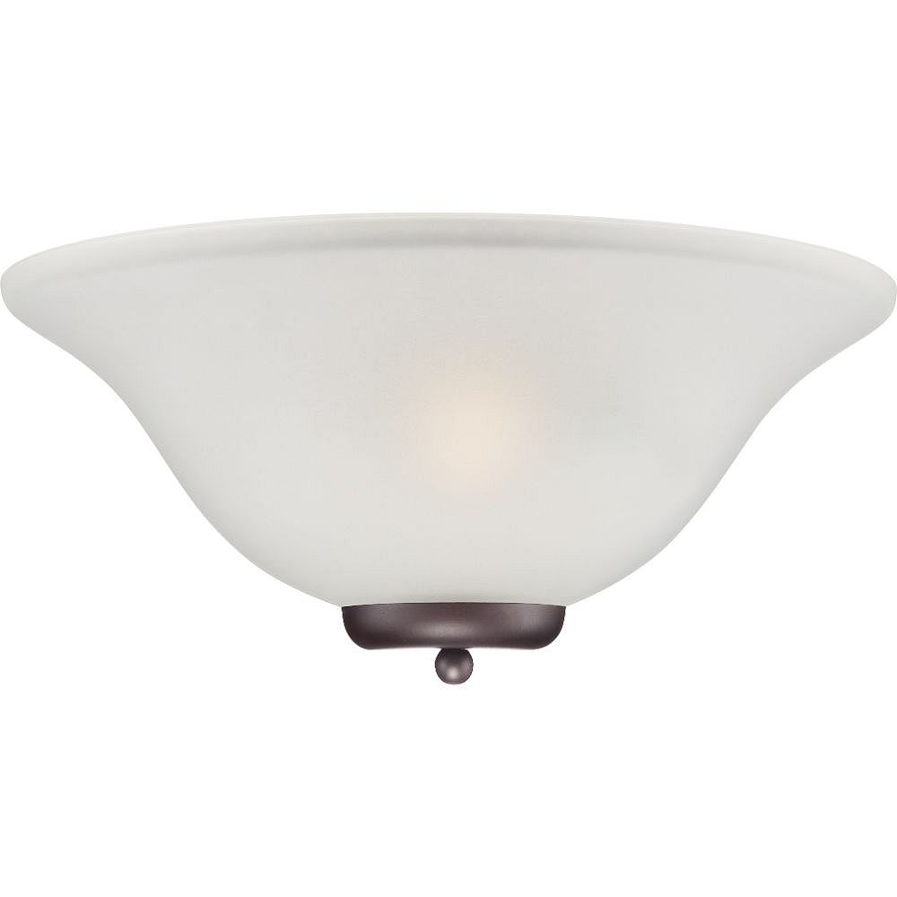Filament Design Applique murale à 1 ampoule en bronze acajou avec verre givré