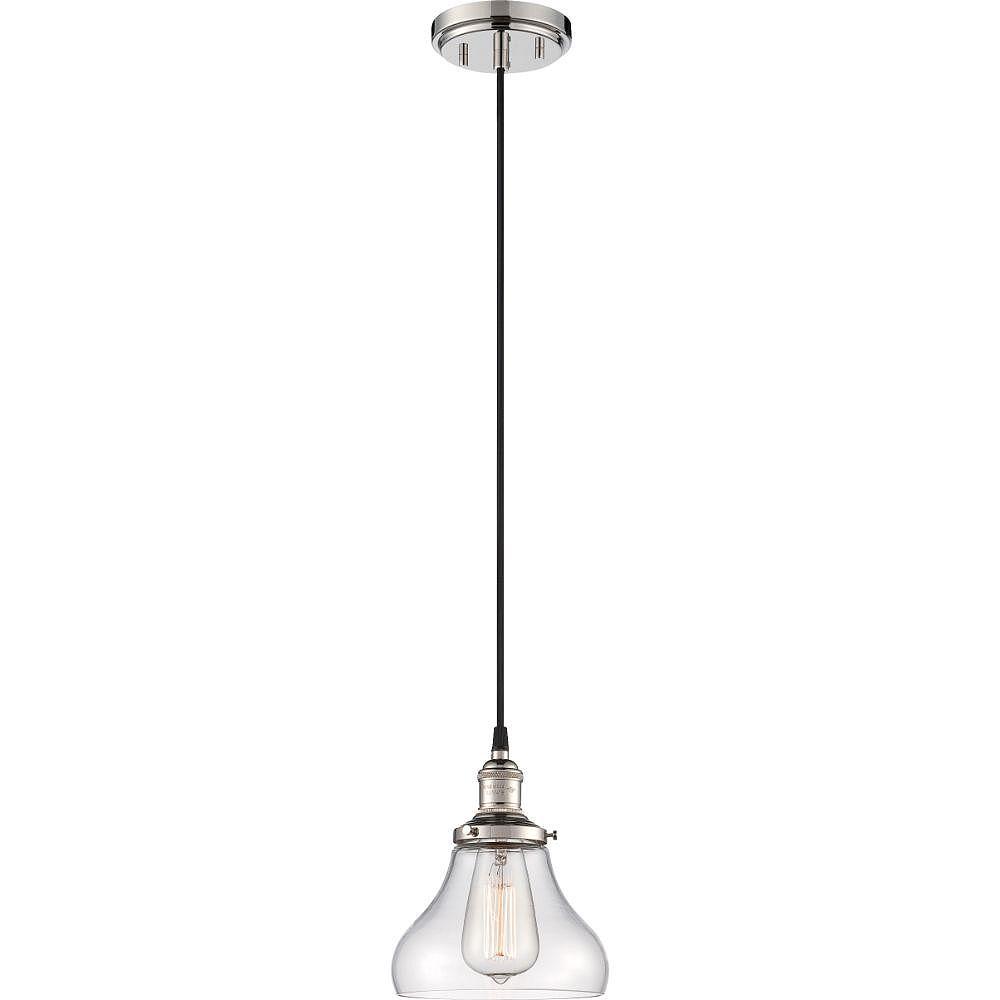 Filament Design 1-Light Polished Nickel Pendant - 7 inch