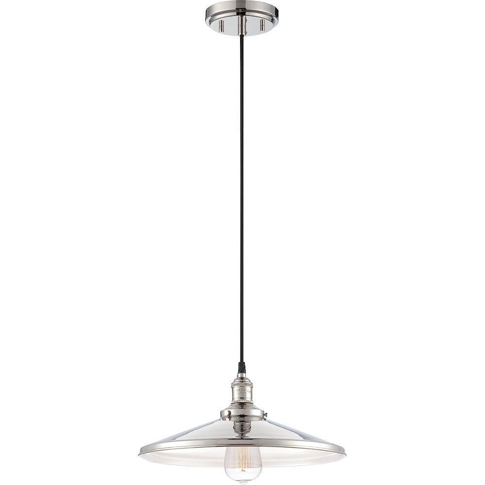 Filament Design Luminaire suspendu à 1 ampoule en nickel poli - 6,5 pouces