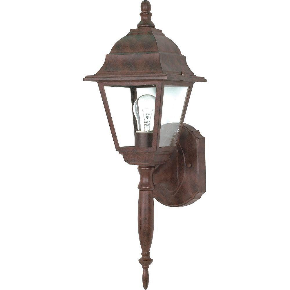 Filament Design Applique murale d'extérieur à 1 ampoule bronze antique - 18 pouces