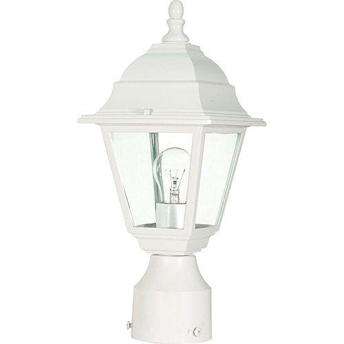 Lanterne d'extérieur blanche à 1 ampoule - 6 pouces