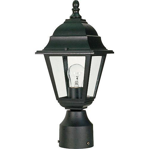 Lanterne d'extérieur noire à 1 ampoule texturée - 6 pouces