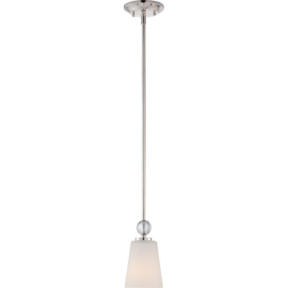 Filament Design 1-Light Polished Nickel Pendant - 47.5 inch