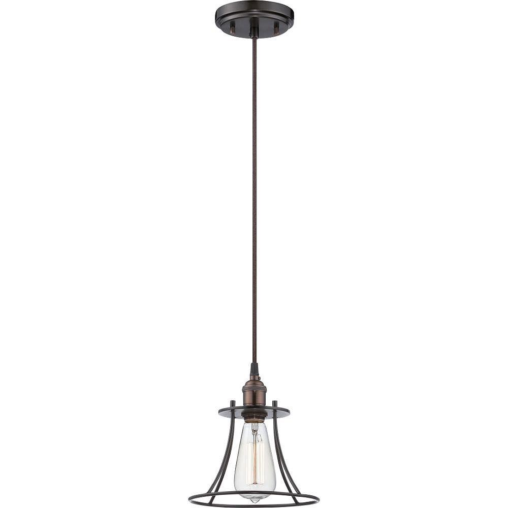 Filament Design Luminaire suspendu à 1 ampoule en bronze rustique - 8,25 pouces