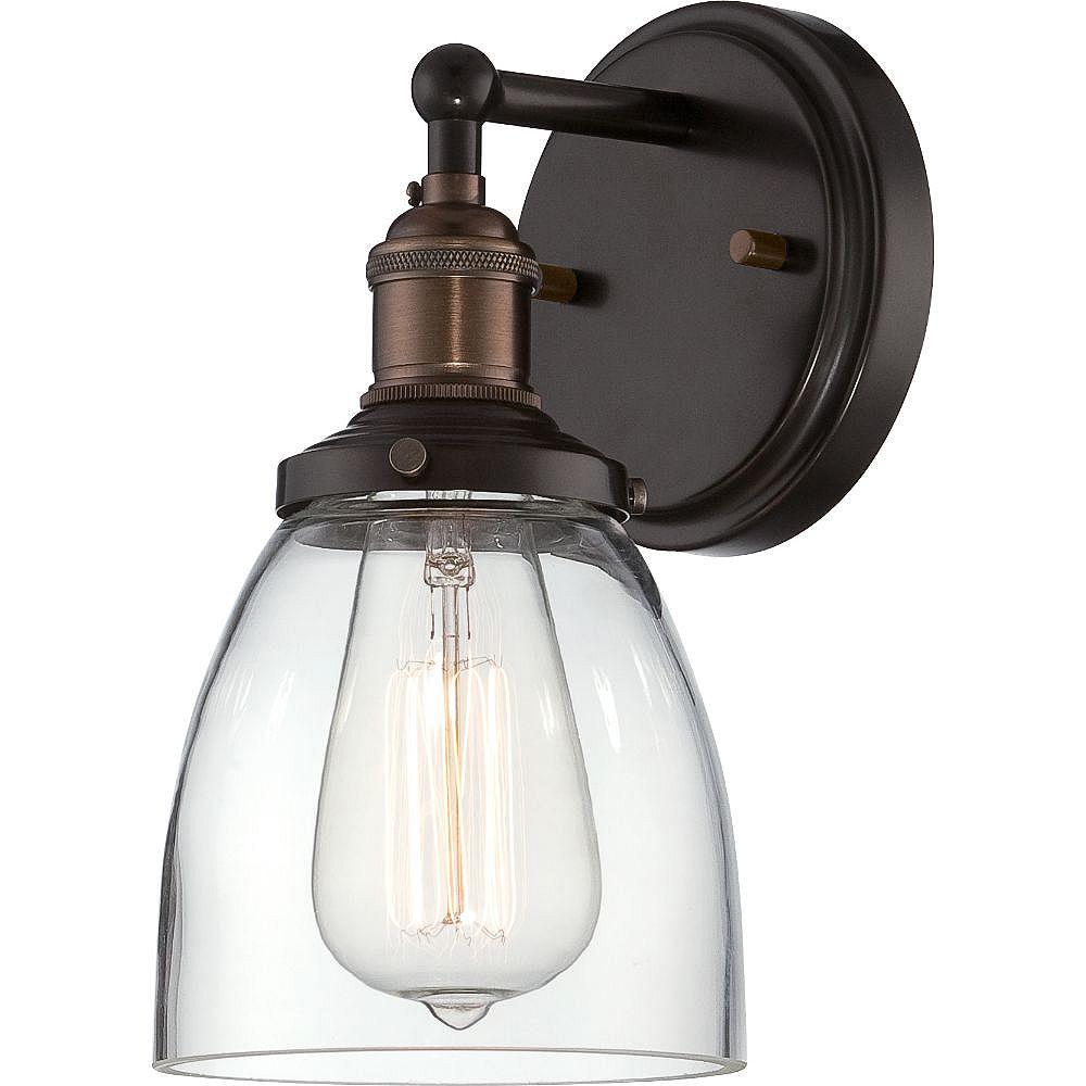 Filament Design Applique murale à 1 ampoule au fini bronze rustique - 5,13 pouces