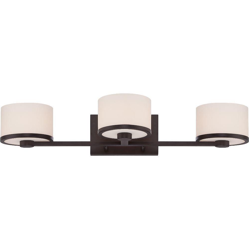 Filament Design Applique de salle de bain à 3 lampes en bronze vénitien