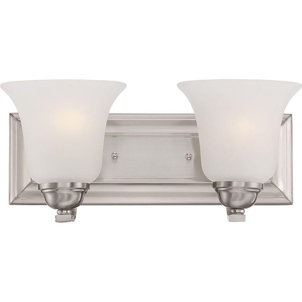 Filament Design 2-Light Brushed Nickel Bath Vanity Light - 6.5 inch