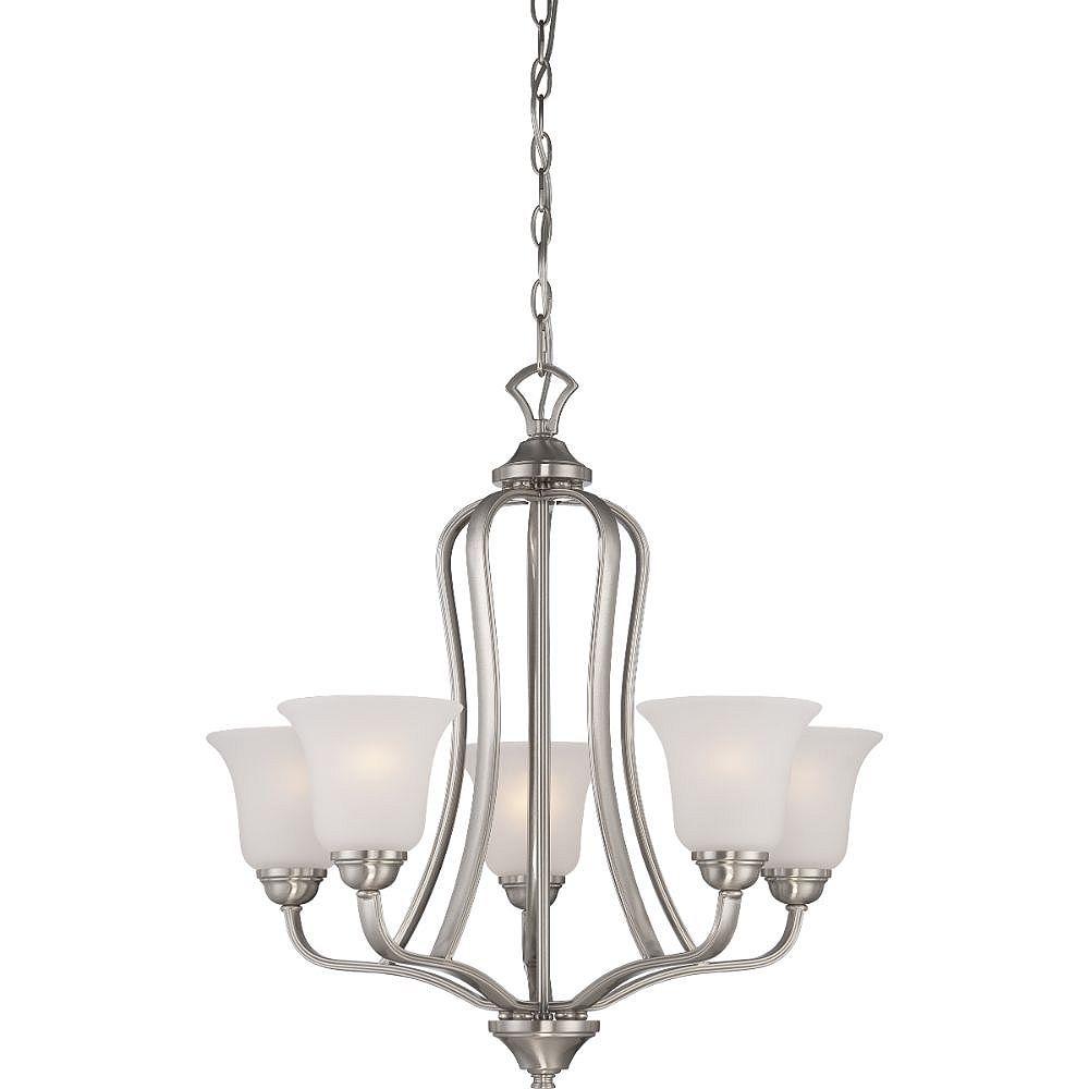 Filament Design 5-Light Brushed Nickel Chandelier - 24.63 inch