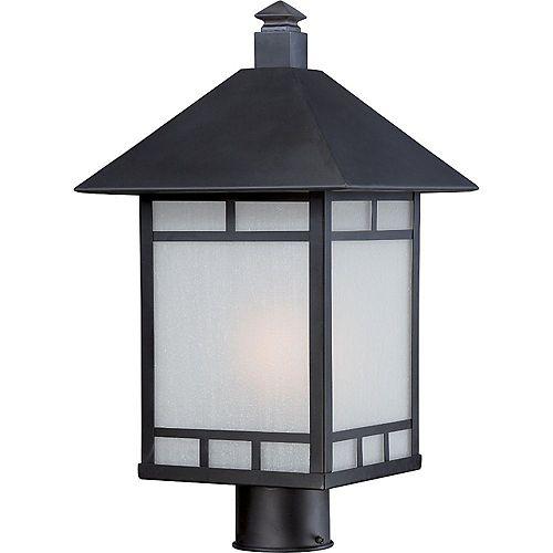 Lanterne d'extérieur à 1 lumière, noir pierre