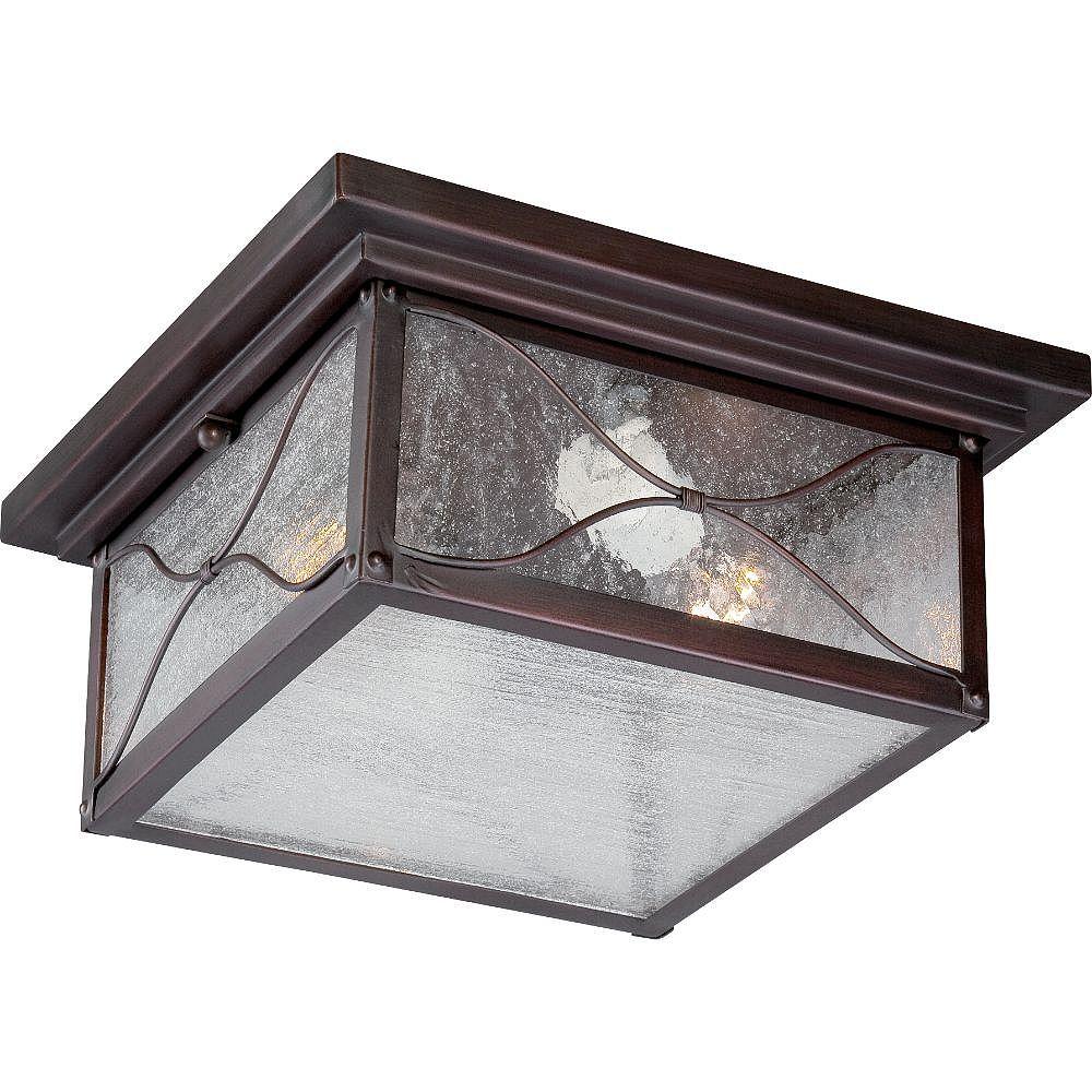 Filament Design Plafonnier extérieur à 2 ampoules au fini bronze classique