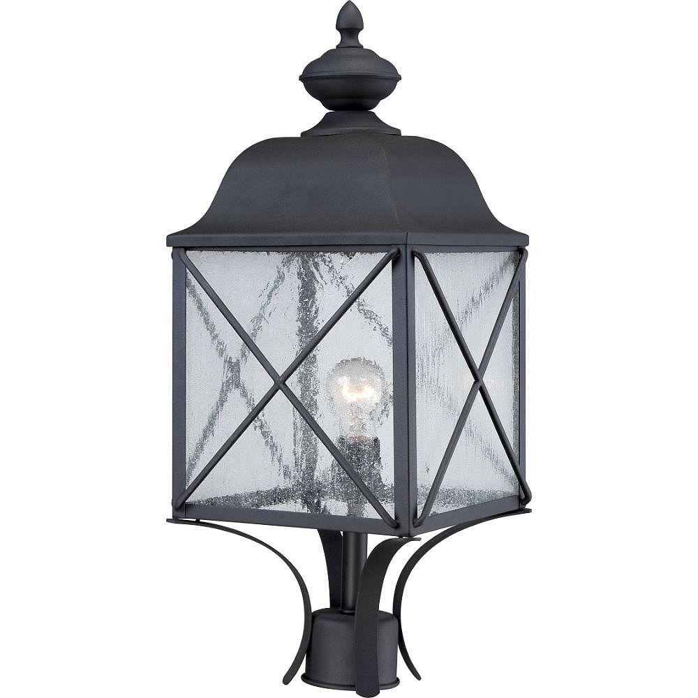 Filament Design Lanterne d'extérieur noire à 1 ampoule texturée - 9,88 pouces